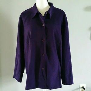 Velvety shirt/jacket 18W